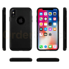 Case Hybrid Hard Shockproof Rubber Plastic Cover Black for Apple iPhone Xs Max