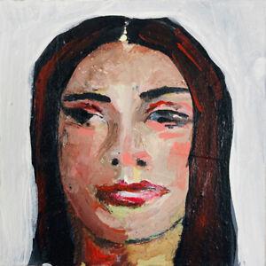 Original Acrylic Portrait Painting Art Miz Katie Jeanne Wood