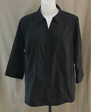 St. John��s Bay, 3X, Black Button Down Shirt, New with Tags