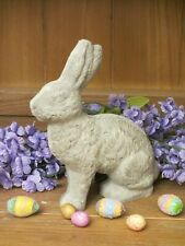 Unfinished paper mache Med Sitting Easter Bunny Rabbit by Linda Hill