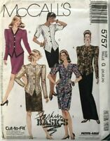 McCalls 5757 Pattern Womens Semi Fitted Jacket and Skirt Size 20 22 24 Uncut