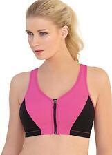 Glamorise Sports High Impact Magic Lift Zipper Bra Size 46F LS079 CC 13