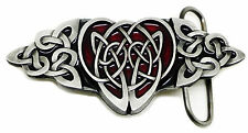 Celtic Knot Belt Buckle 3D Red Heart & Knot Authentic Dragon Designs Product