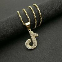 Fashion TIK TOK Note Necklace Pendant Stainless Steel Choker Hip-hop Jewelry Hot