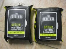 2X30 Wipe The Nobleman Active Face + Body Cleansing Wipe with Lemon & Sage