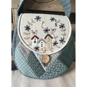 Lynette Anderson's 'Birdhouse Bag'  pattern. Embroidery & patchwork