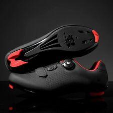 Men Cycling Shoes Road Bike Shoes Spin Mountain Shoes with BOA - Size 8 Narrow