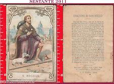 2455 SANTINO HOLY CARD S. SAN ROCHUS ROCCO ORAZIONE MEDIOLANI