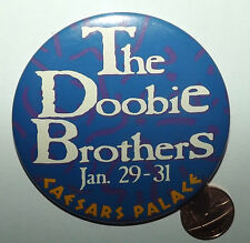 """THE DOOBIE BROTHERS Caesars Palace Vtg Huge Button Pin Badge(3""""-75mm)Concert"""