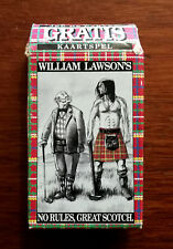 More details for william lawson's no rules, great scotch vintage playing cards in original box