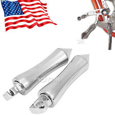 """Chrome 6"""" Pirate Spike Foot Pegs for Harley Dyna Softail Sportster Chopper"""