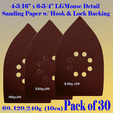 30X L Mouse Detail Sander Sand paper Hook & Loop Mega Mouse Black & Decker
