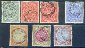 Antiguas 1908-17 Edward 7th values to 1sh average to good used (2020/03/16#03)