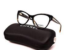 CHANEL 3307 714 Eyeglasses Optical Frames Glasses Havana & Gold 53mm