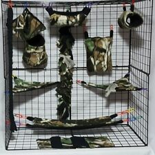 Deep Woods *15 PC Sugar Glider Cage set * Rat * double layer Fleece