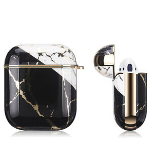 Apple AirPods Marble Gold Case Shockproof Cover Luxury w/ Holder (Portoro)