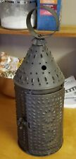 Vtg Americana Paul Revere 17 inch Candle Lantern Punched Tin