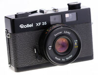 Rollei XF 35 mit Sonnar 40 mm f 2,3 Rangefinder Black Chromed Messing Version