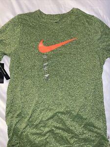 Boys Green Nike Standard Dri Fit Shirt Size Xl