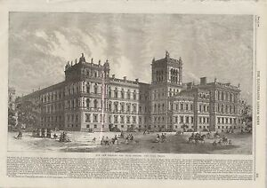 1866 LONDON BUILDINGS FOREIGN AND INDIA OFFICES