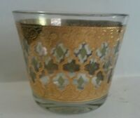 Mid Century Modern Culver Valencia Ice Bucket 22K Gold Design Green Diamond