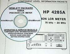 HP Hewlett Packard 4285A LCR Meter Ops & Service Manuals w/Schematics 4-Volumes