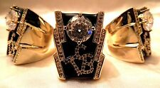 Luxury Elvis crystal TCB ring in 18 gold plate a fabulous looking ring SIZE Z+4