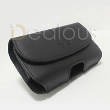 For Samsung Galaxy S4 IV S 4 Black Leather Pouch Case Fit Otterbox Case On