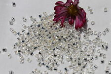 3mm Cube Toho  8-Silver Lined Crystal /28 grams # 21