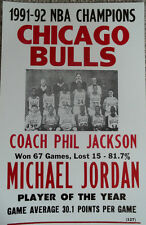 Chicago Bulls 1991-92 NBA Champions with Michael Jordan and Phil Jackson Poster