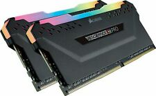 New Vengeance RGB PRO 16GB (2x8GB) DDR4 3000MHz C15 LED Desktop Memory, Black
