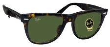 Ray Ban RB2140F 902 wayfarer tortoise frame crystal green lens sunglasses new