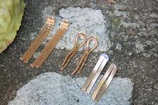 Womens Set of Three Earrings, Wedding Jewelry, Gold Colored Earrings, Gift