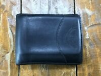 Auth Marley Hodgson Ghurka Black Leather Bill Clip Bifold Wallet Clutch USA MADE