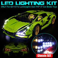 LED Light Lighting Kit For LEGO 42115 For Lamborghini Sian FKP 37 Car Bricks Toy