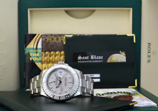 ROLEX Mens Platinum & Stainless YachtMaster M Serial BOX BOOKS 16622 SANT BLANC