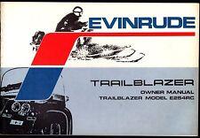 1973 EVINRUDE TRAILBLAZER E254RC SNOWMOBILE OWNERS MANUAL NEW (807)