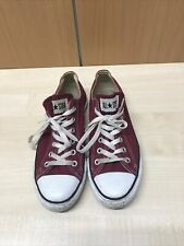 Converse All Star Unisex Red Low Top Lace Up Trainers Size UK 7.5