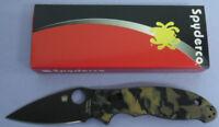 SPYDERCO KNIFE C101MGPBRBBK2 SPRINT RUN MANIX 2 BLACK / BROWN BURL G10  S90V USA