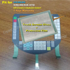for SIEMENS SINUMERIK HT8 6FC5403-0AA20-0AA1 Screen Glass + Membrane Keypad
