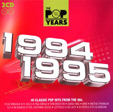 POP YEARS 1994/95 NEW 2CD GREATEST HITS R.Kelly,Tina Arena,M People Real McCoy+