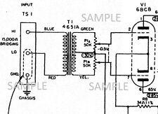 ALTEC 436C Compressor Tube Amplifier Owner Manual w/Circuit Diagram schematic PD