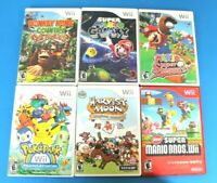 Nintendo Wii Game Lot of 6: Pokepark, Harvest Moon, Donkey Kong and More