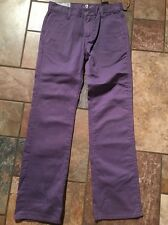 Nwts!!! Boys 7 For All Mankind Purple Standard Jeans Sz 12 Inseam 28
