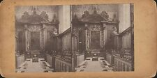 Vintage/Antique 3D Stereoview Card - Oxford, Trinity College, Chapel