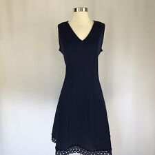 Donna Ricco Women's Cocktail Dress Size 14 Blue Sleeveless Fit and Flare $128