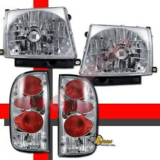 Chrome Headlights & Tail Lights For 97 98 99 00 Toyota Tacoma 2WD 98-00 4WD