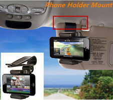 Car Sun Visor Clip Mount Holder Stand Bracket For Mobile Phone GPS PDA Universal