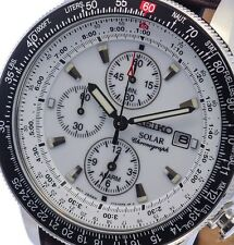 NEW MEN'S SEIKO PROSPEX SOLAR FLIGHTMASTER ALARM CHRONOGRAPH WATCH SSC013P1