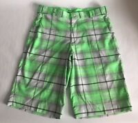 Men's Nike Golf Tour Performance Dri- Fit Plaid Golf Shorts Size 32 Green